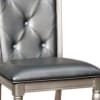 Sarina Contemporary Side Chair, Silver Gray Finish, Set of 2