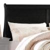 Transitional Panel Design Sleigh Eastern King Size Bed, Black