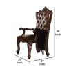 Carved Tufted Set of 2 Arm Chairs
