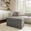 Hastings Home Gray Storage Bench Ottoman