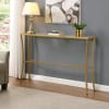 Palin Glass Top Console Table
