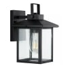 Bungalow Traditional Iron and Seeded Glass Rustic Lantern LED Outdoor Wall Sconce