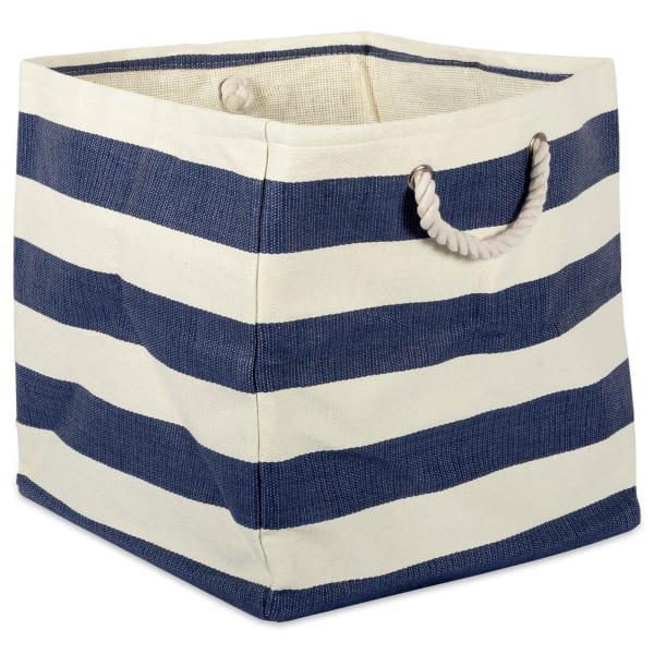 Paper Cube Stripe Nautical Blue Square 16x16x16
