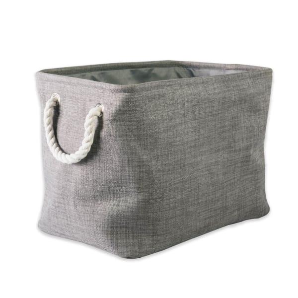 Polyester Bin Variegated Gray Rectangle Medium 16x10x12