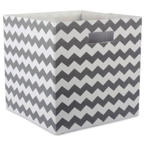 Polyester Cube Chevron Gray Square 11x11x11