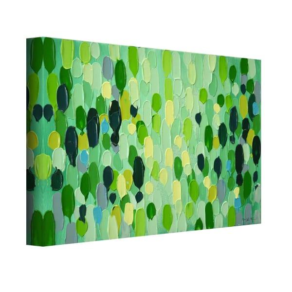 Confetti III by Sarah LaPierre Green Canvas Wall Art
