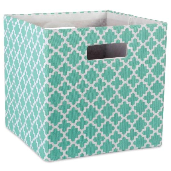 Polyester Cube Lattice Aqua Square 13x13x13