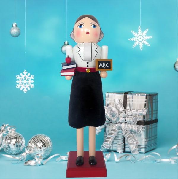 Teacher Lady Christmas Nutcracker