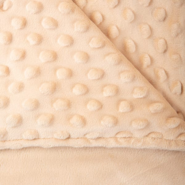 41x60 Taupe Minky Dot Sensor Weight Blanket Cover