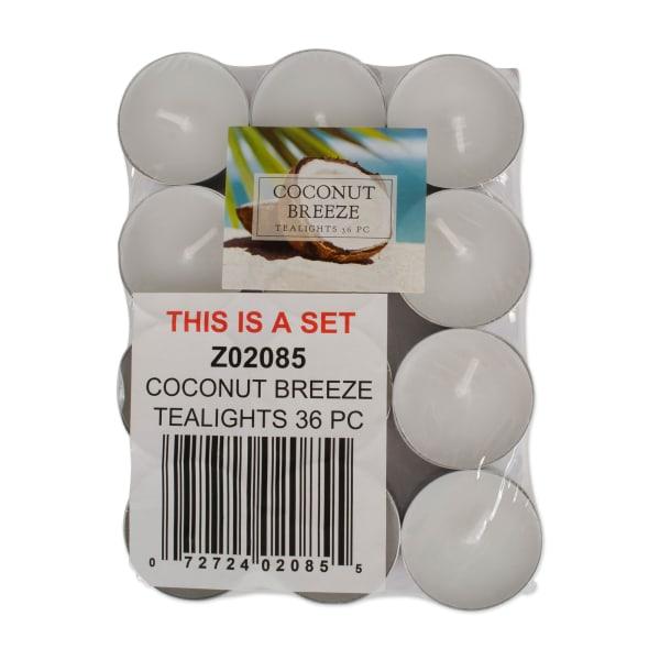 Coconut Breeze Tealights 36 Pc