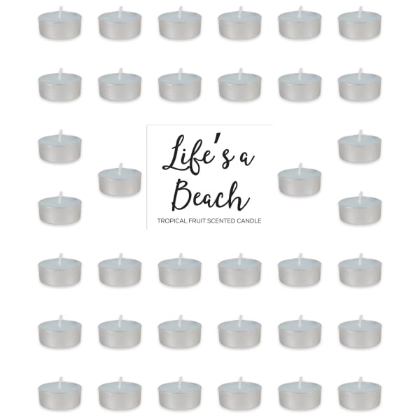 Lifes A Beach -Tropical Fruit Tealights 36 Pc