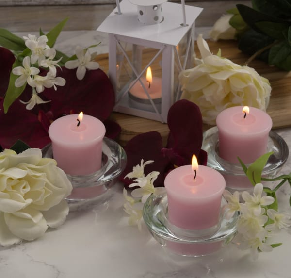 Thanks A Bunch! - Freshly Pick Orchids, Jasmine And Gardena Votives 8 Pc