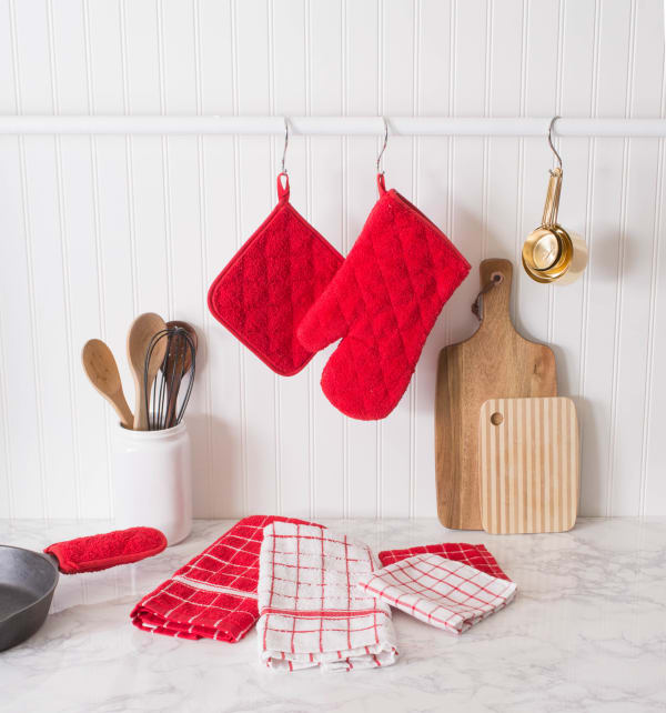 Red Terry Potholder (Set of 3)