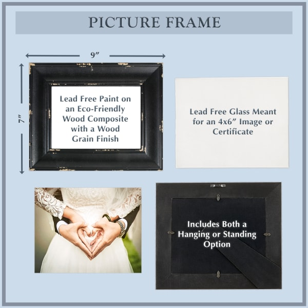 4x6 Distressed Antique White Farmhouse Picture Frame