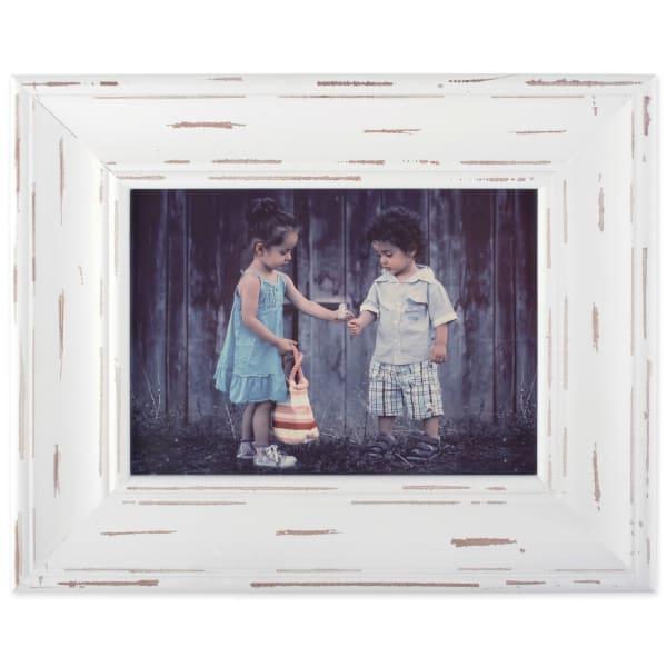 4x6 Distressed White Farmhouse Picture Frame