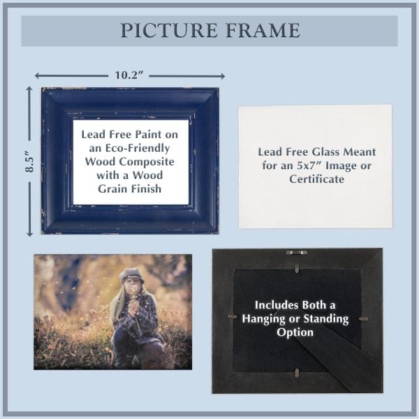 5x7 Distressed Black Farmhouse Picture Frame