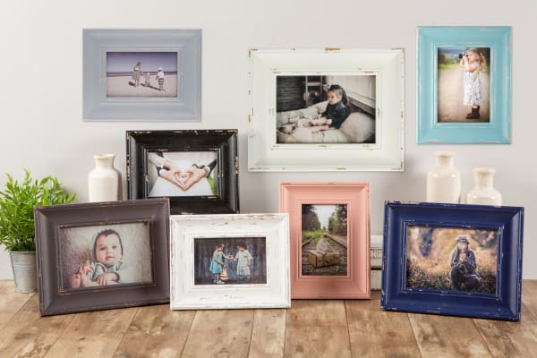 8x10 Distressed Navy Farmhouse Picture Frame