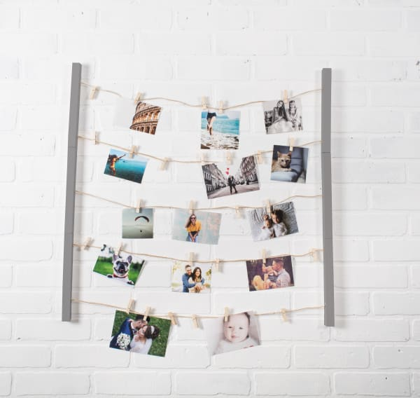 Floating Frame With Clips Grey