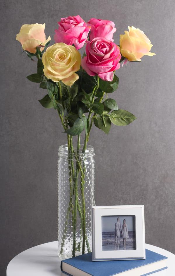 Flower Closed Rose Light Pink (Set of 4)