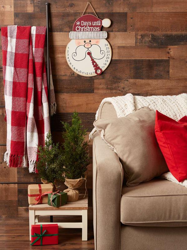 Santa Days Til Christmas Hanging Sign