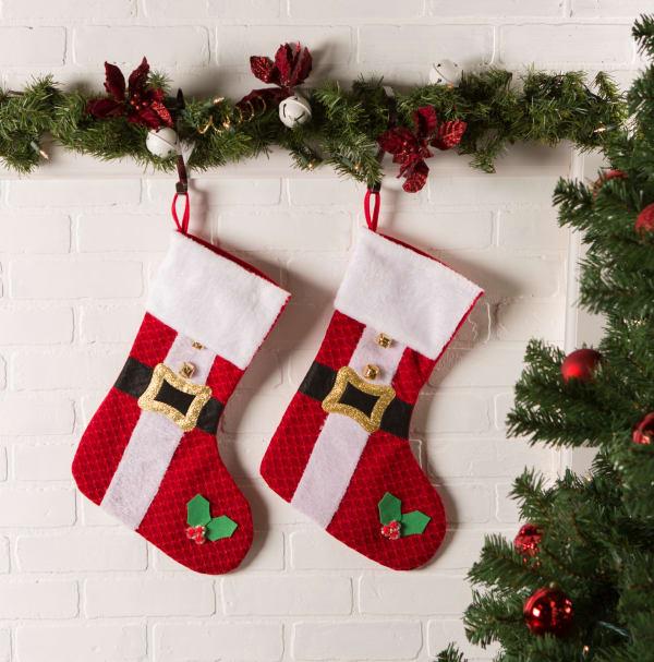 Santa's Holiday Stocking (Set of 2)