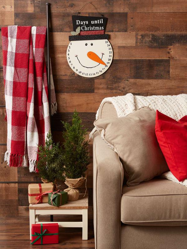 Snowman Days Til Christmas Hanging Sign