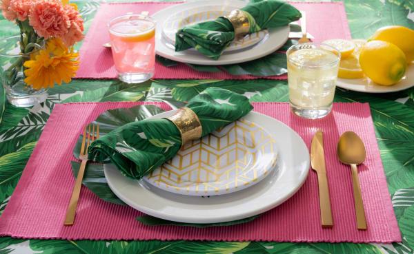 Banana Leaf Print Outdoor Napkin (Set of 6)