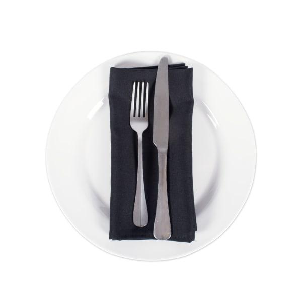 Black Commercial Quality 18x18 Napkin Set/6