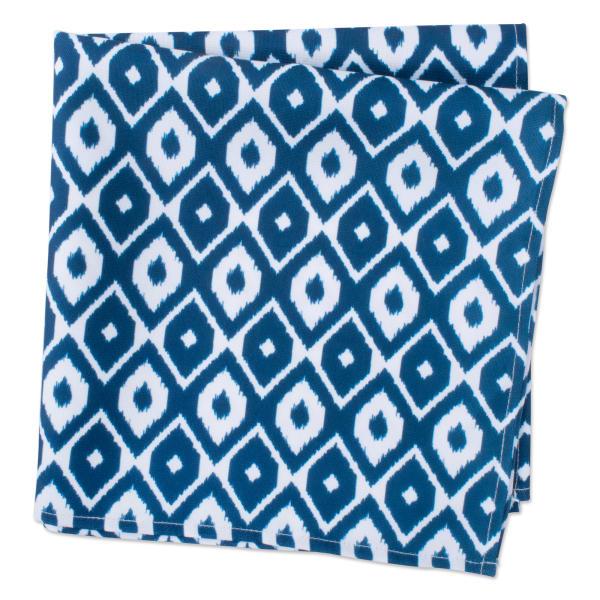 Blue Ikat Print Outdoor Napkin (Set of 6)