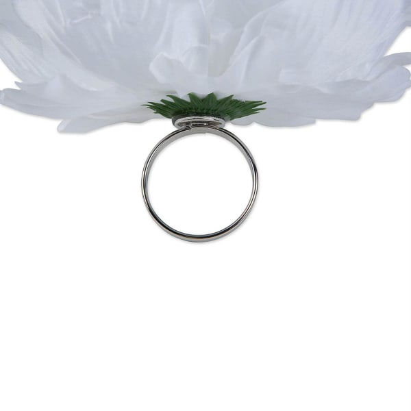Peony Napkin Ring (Set of 4) White