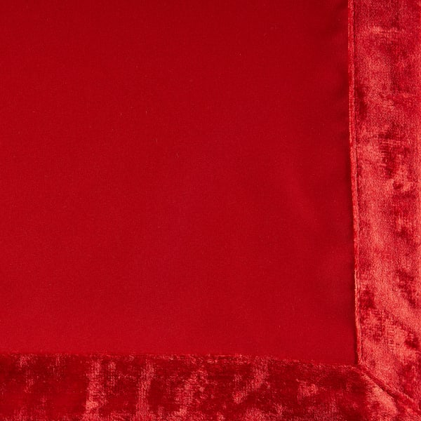 Red Velvet Trimmed Napkin (Set of 4)