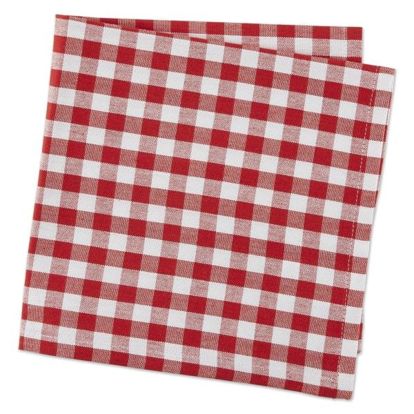 Red/White Gingham Napkin Set