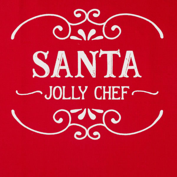 Chef Santa Claus Kitchen Set Apron & Dish Towels