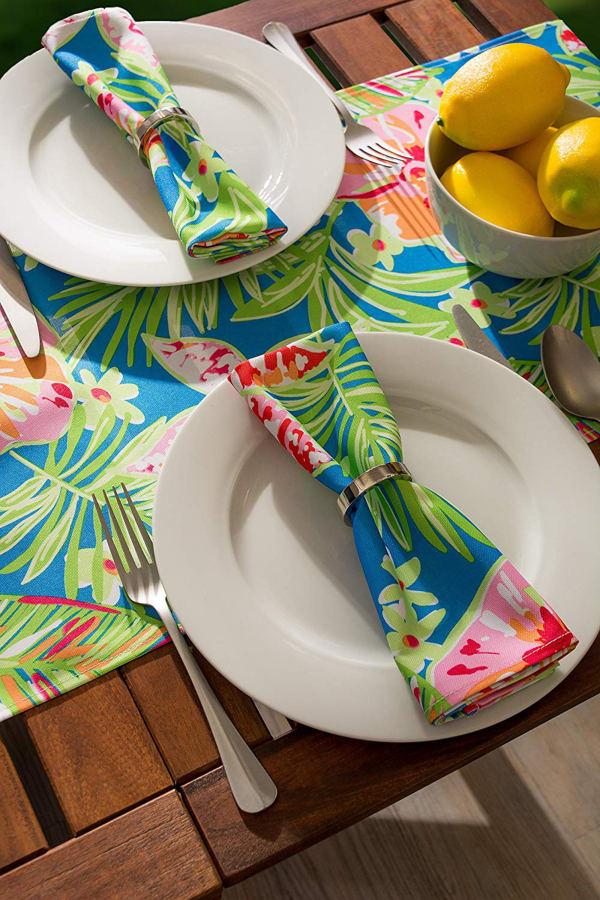 Summer Floral Print Outdoor Napkin (Set of 6)