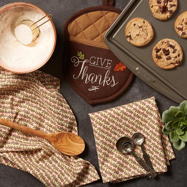 Thanks Acorn Potholder Gift Set/3
