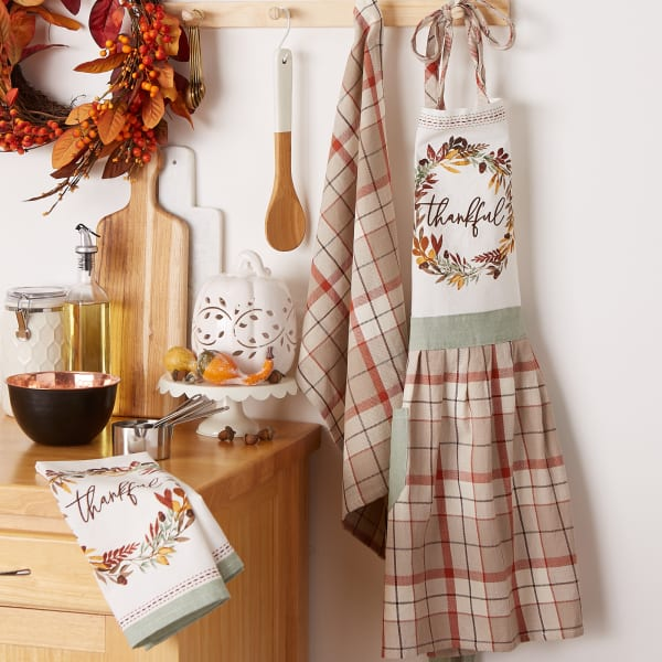 Thanksgiving Thankful Autum, Fall Leaves, Kitchen Set