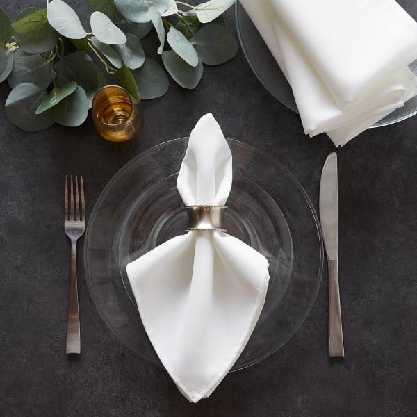 White Commercial Quality 18x18 Napkin Set/6