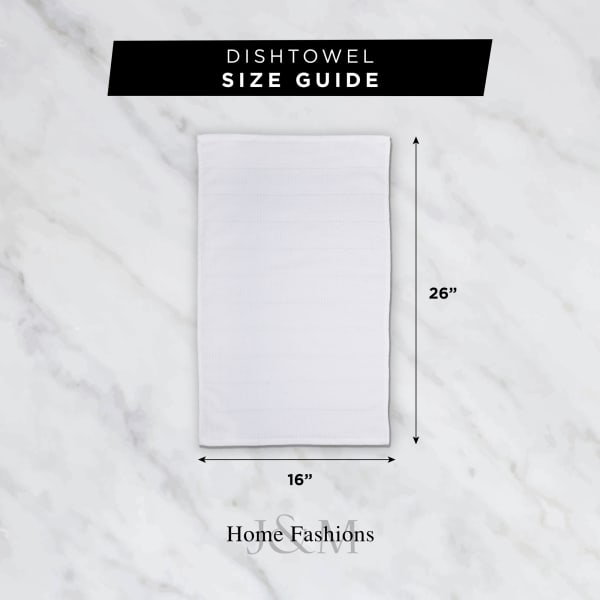 Gray Ribbed Terry Dishtowel & Dishcloth (Set of 8)
