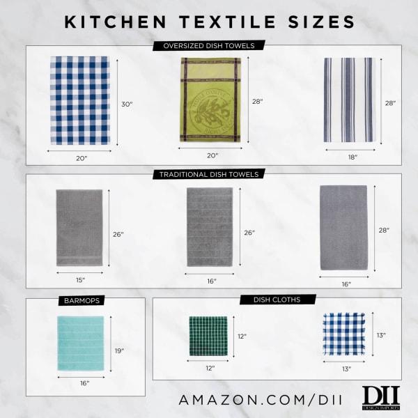 Red Waffle Weave  Dishtowel & Dishcloth (Set of 8)