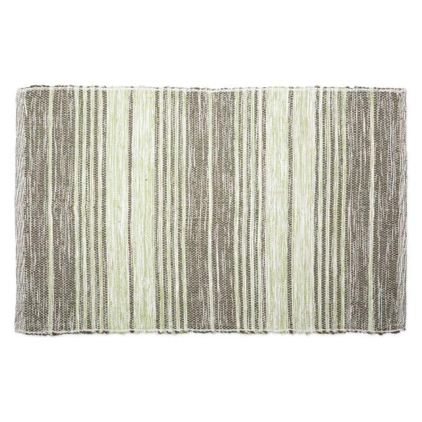 Variegated Artichoke Recycled Yarn Rug 2x3-ft