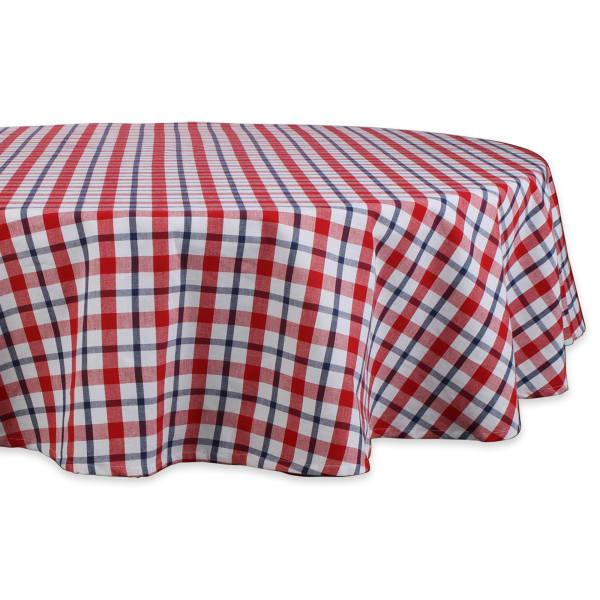 American Plaid Kitchen Tablecloth, 70