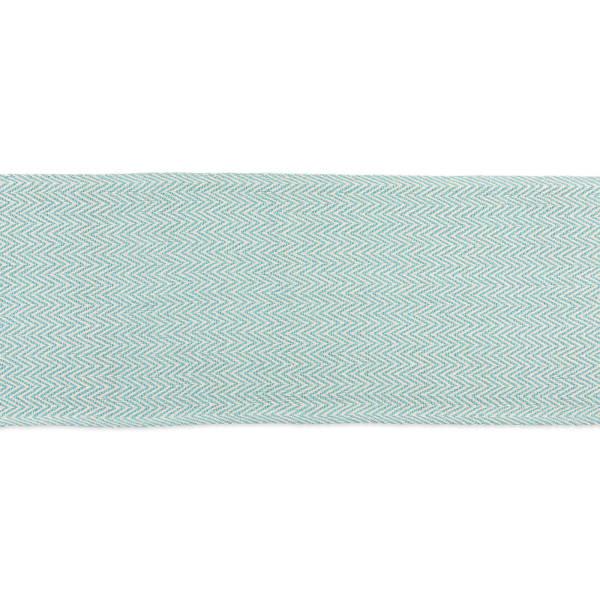 Aqua Chevron Handloom Table Runner 15x72