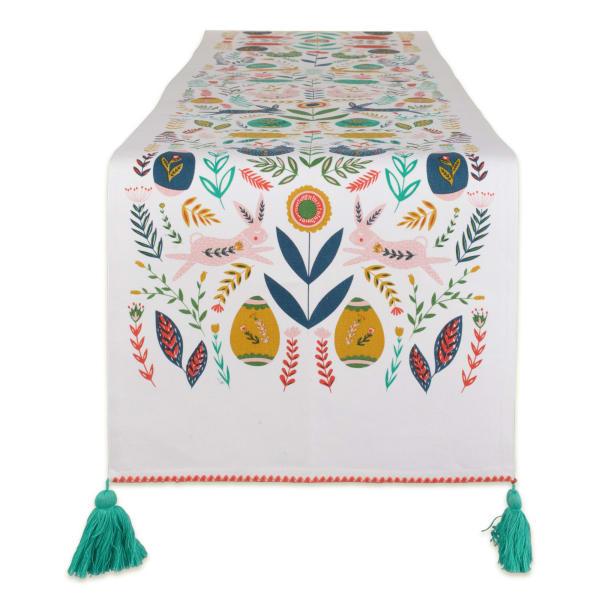 Easter Garden Embellished Table Runner 14x108