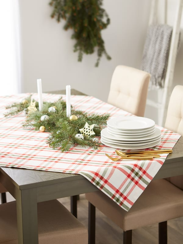 Kitchen & Tabletop Jolly Tree Collection Tablecloth, Nutcracker Plaid, 60x84