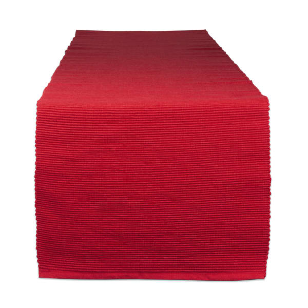 Tango Red Ribbed Table Runner 13x72