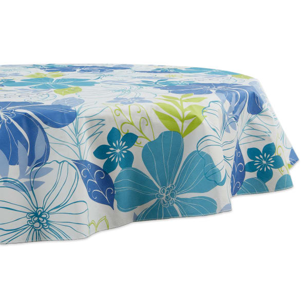 Tropical Bahama Vinyl  Round Tablecloth