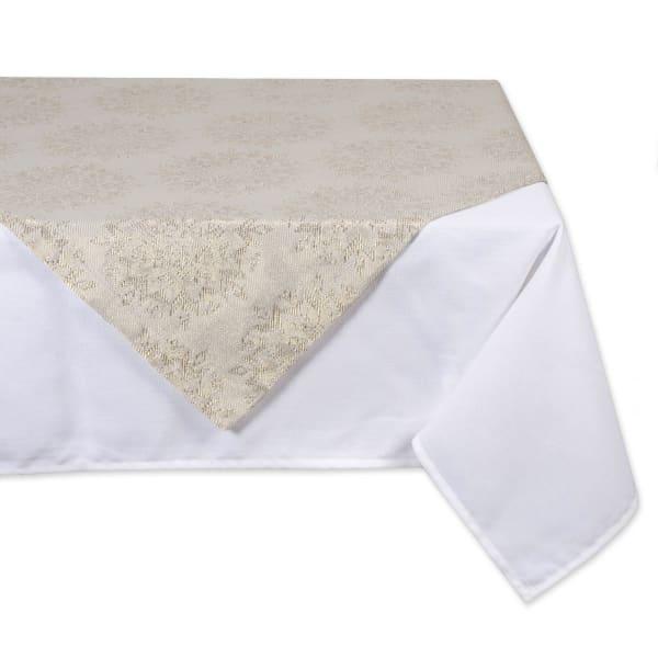 Winter Sparkle Jacquard Square Table Topper 40x40