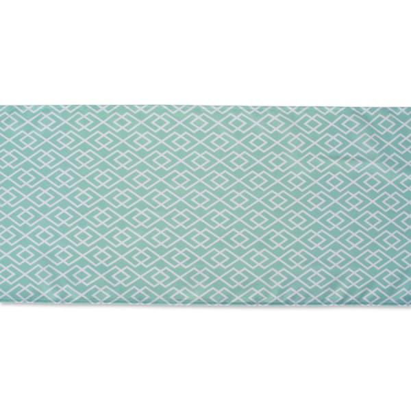 Aqua Diamond Outdoor Table Runner 14x108