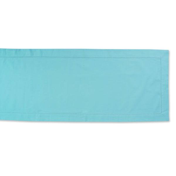 Aqua Hemstitch Table Runner 14x108