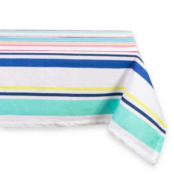 Beachy Keen Stripe Tablecloth 52x52